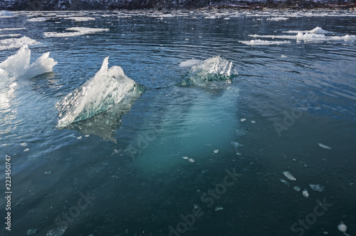 Foto op Canvas Poolcirkel Most of the Iceberg is Underwater