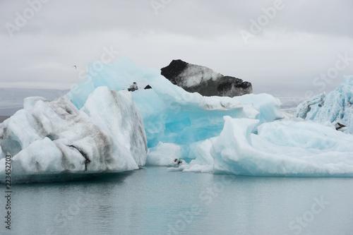 Poster Glaciers Jökulsárlón Gletscherlagune am Fuß des Vatnajökull, Island