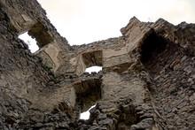Remains Of Chimney Of Brekov Castle, Slovakia