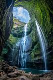 Fototapeta Fototapety z naturą - Madakaripura Waterfall is the tallest waterfall in Deep Forest in East Java, Indonesia.