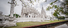 Wat Rong Khun White Teple, Buddhist Architecture, Chiang Rai Thailand