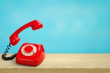 Retro Red Telephone
