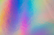 canvas print picture - a colorful hologram paper