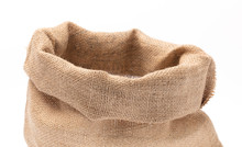 Empty Burlap Sack Isolated On ...
