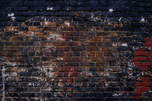 Deurstickers Baksteen muur Grunge brick wall background