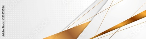 Grey and bronze abstract corporate style banner