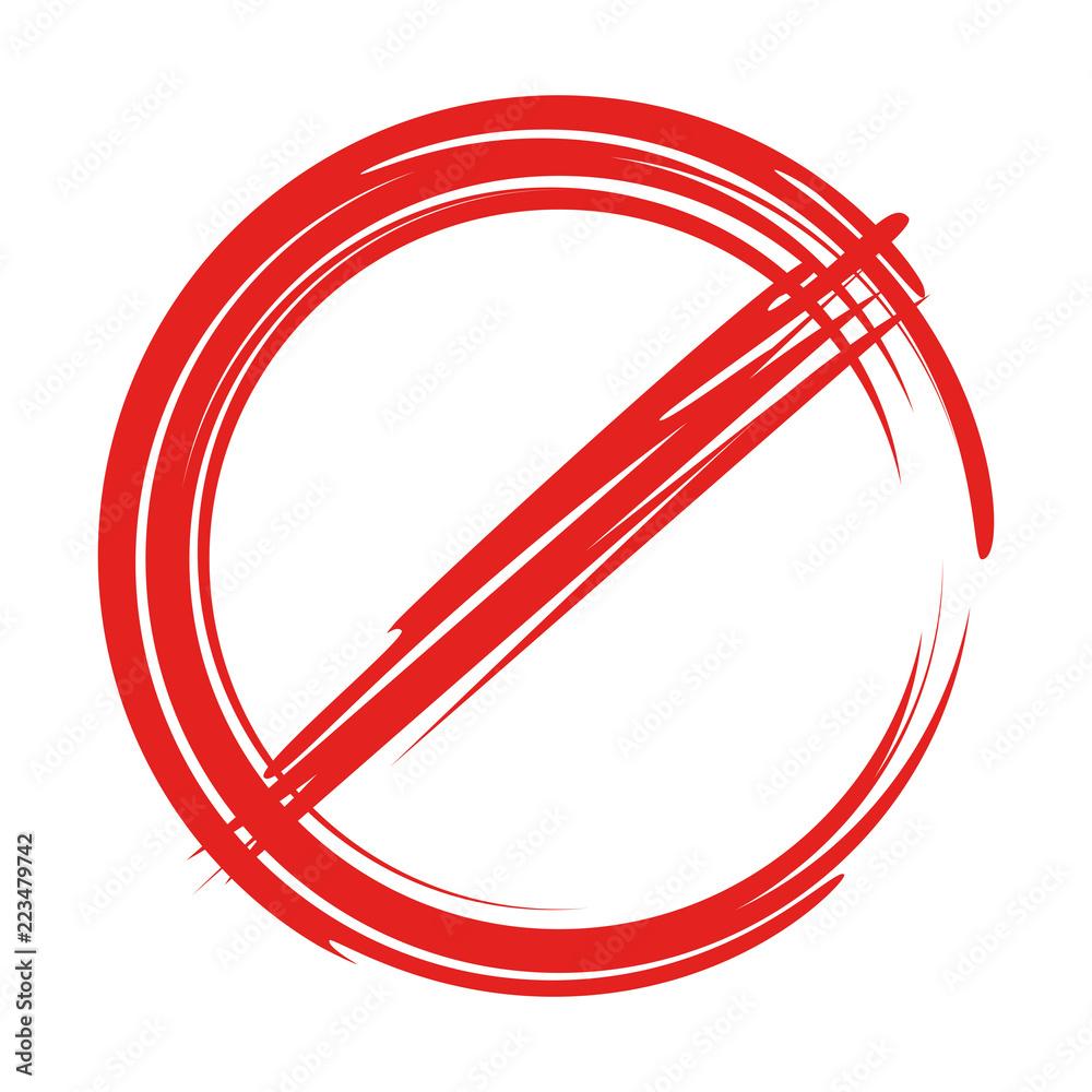 Fototapeta stop sign, no sign, ban sign