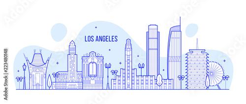 Los Angeles skyline USA city buildings Vector Tapéta, Fotótapéta
