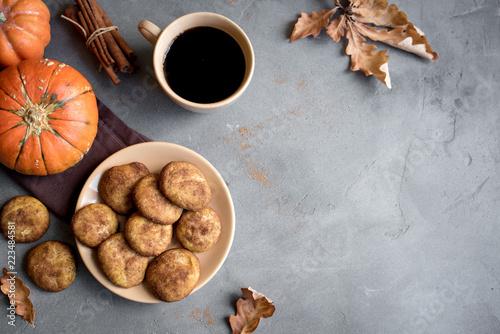Poster Koekjes Pumpkin Snickerdoodle Cookies