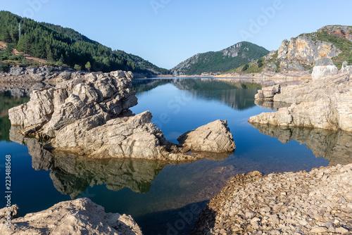 Camporredondo reservoir near Alba de los Cardanos, mountains of Palencia, Spain