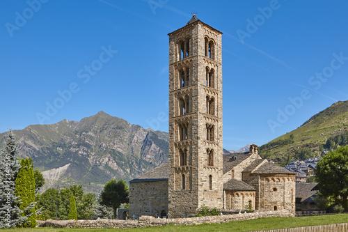 Edifice religieux Spanish romanesque. Sant Climent de Taull church. Vall de Boi