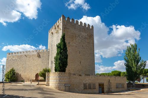 Tuinposter Historisch geb. Monzon de Campos Castle in Palencia province, Spain