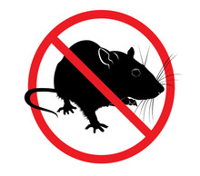 The Prohibition Sign Of The Rat