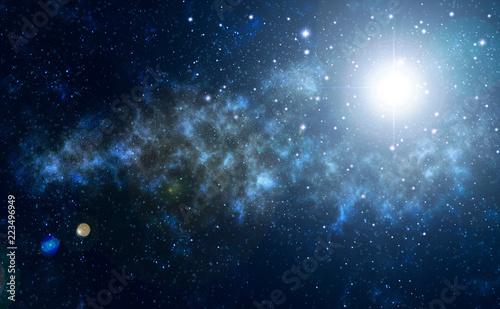 night sky, stars