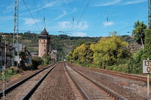 Gleisanlage in Oberwesel am Rhein