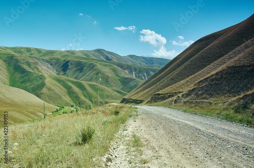 Poster Asia land Mountain plateau