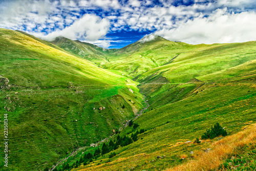 Green valleys in the Pyrenees