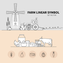 Vector Banner For Agriculture And Dairy Production