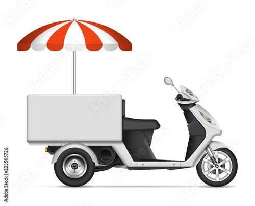 Fotografia, Obraz Realistic food cart vector illustration