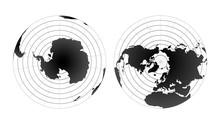 Arctic And Antarctic Poles Glo...