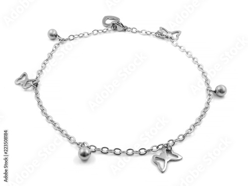 Photo Ankle bracelet. Bangle. Stainless steel