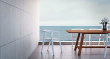 Beach Dining Room On Sea View ...