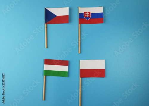 Photo  Visegrad Group on wooden stick