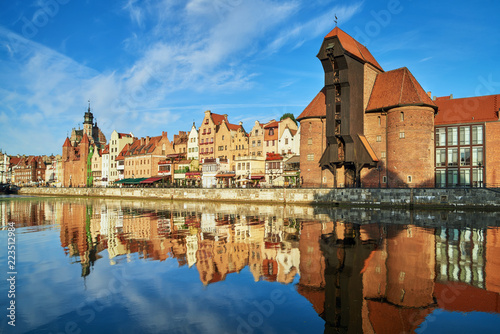 Cityscape of Gdansk with reflection in channel © tilialucida