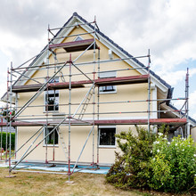 Single-family House With Scaffolding