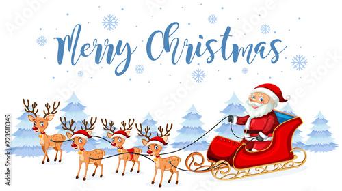 Keuken foto achterwand Kids Santa claus merry christmas template
