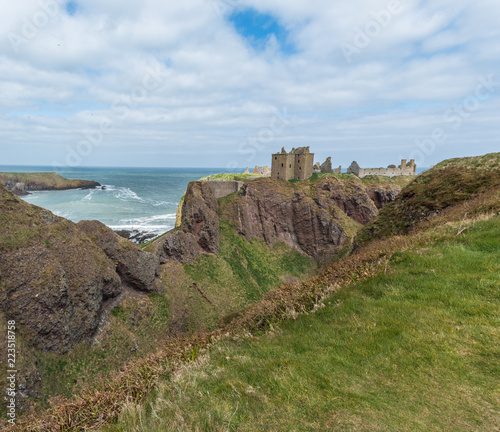 Photo Dunnottar fortress or castle. Highlands of Scotland