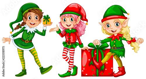 Keuken foto achterwand Kids A set of female elf
