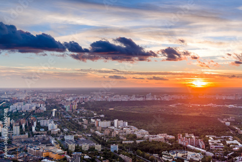 Keuken foto achterwand Buenos Aires Panoramic view of Moscow. Evening, sunset.