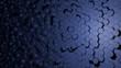 Abstraktes blaues Wabenmuster Hintergrund