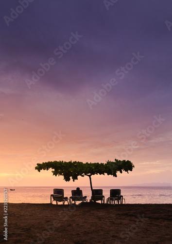 sunset at guanacaste beach costa rica