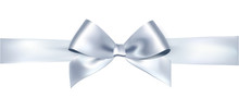 Vector Bow And Ribbon.