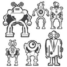 Robot, Monster Sticker Design