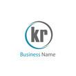 Initial Letter KR Logo Template Design