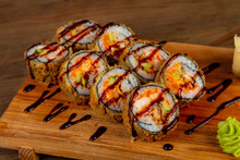 Japanese Roll With Prawn