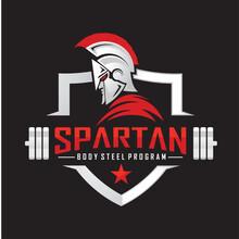 Spartan Fitness And Bodybuilding Logo Design Inspiration Vector