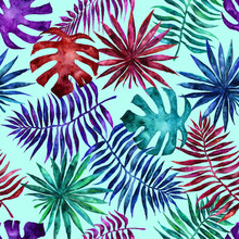Seamless Pattern With Leaves A...