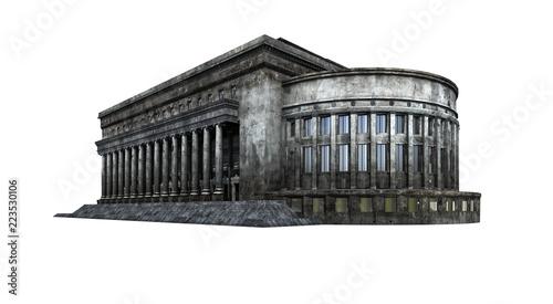 Staande foto Oude gebouw Post office building ruins