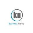 Initial Letter KU Logo Template Design