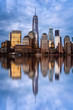 Cityscape of Financial District of New York