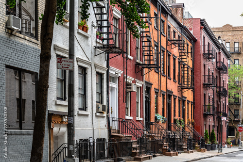 Picturesque street view in Greenwich Village, New York