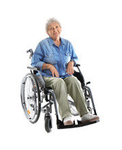 Senior Woman In Wheelchair On ...