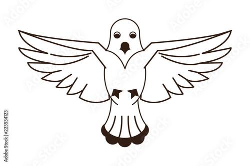 Canvas Prints Owls cartoon Dove flying symbol
