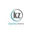 Initial Letter KZ Logo Template Design