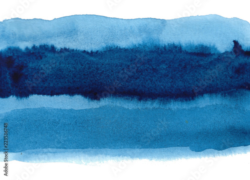 Recess Fitting Fantasy Landscape Blue abstract watercolor background. Hand painted illustration.