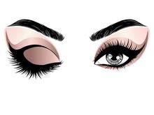 Rose Gold Eye Make Up